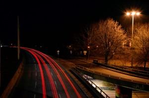 Unistraße Richtung Witten