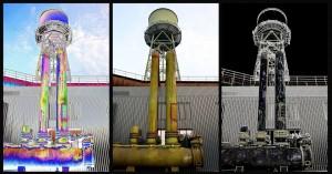 Wasserturm mit Filtern