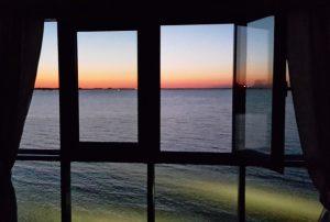 """Blick aus dem Fenster Hotel """"Zur Aussicht"""""""