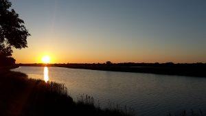Sonnenuntergang am Ryck